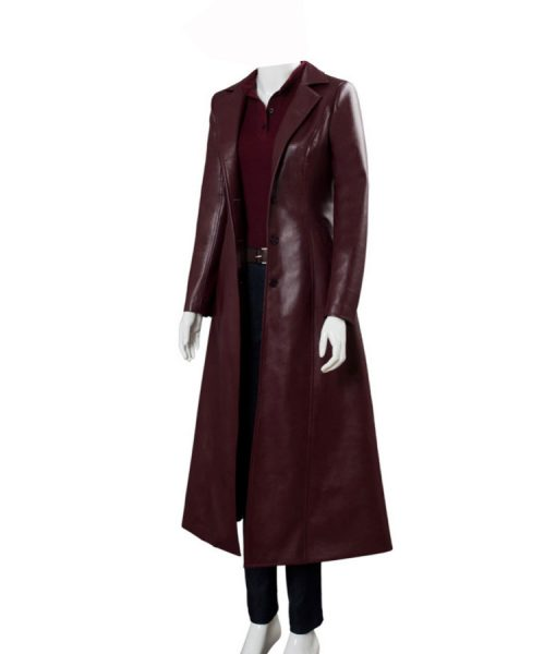 Jean Grey Leather Long Coat