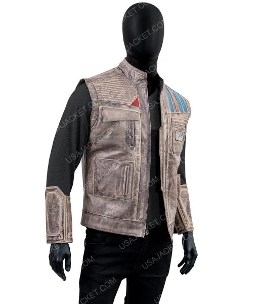 John Boyega Star Wars Episode 9 Rise of the Skywalker Finn Leather Vest
