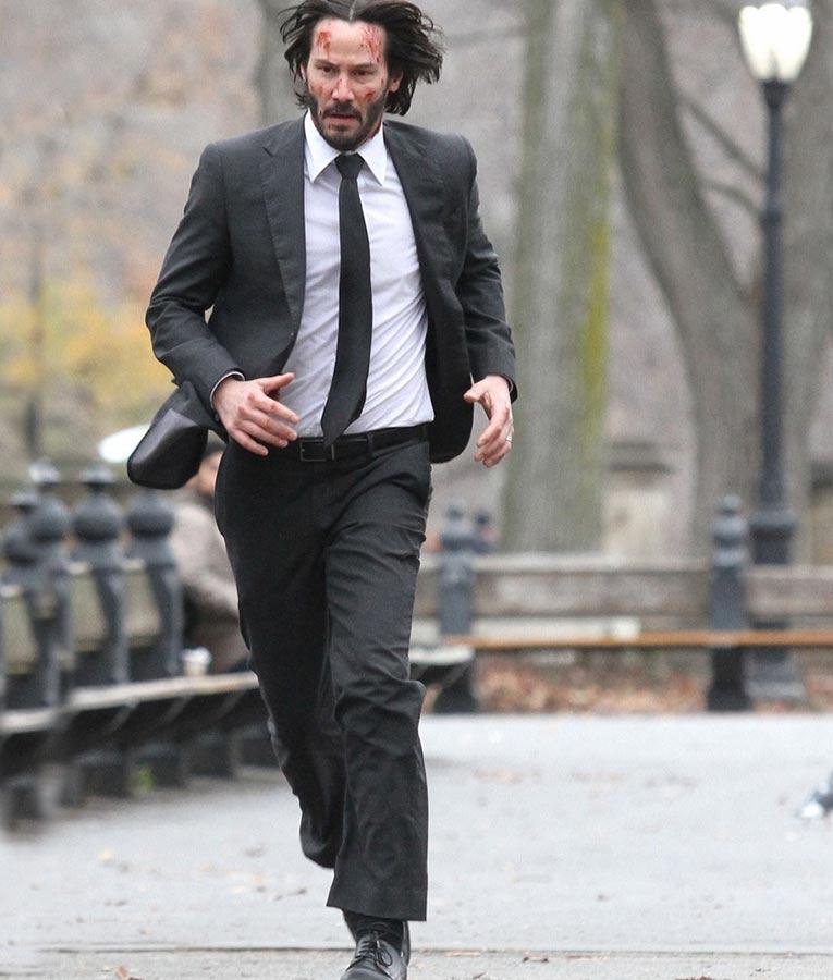 John Wick 2 Keanu Reeves Black Suit