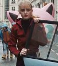 Kathryn Newton Pokemon Detective Pikachu Lucy Red Jacket