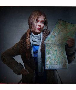 Oksana Orlovskaya leather Coat