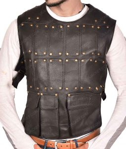 Robin Hood Black Leather Vest