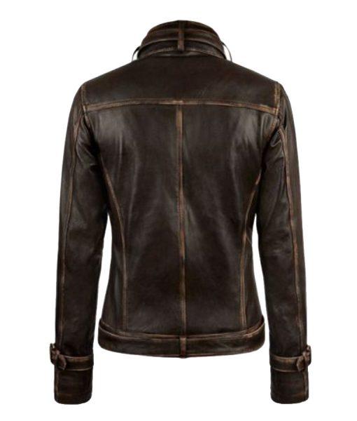 Captain America 2 Scarlett Johansson Biker Jacket