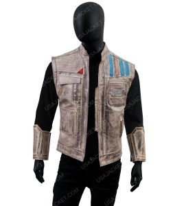 Star Wars Episode 9 Rise of the Skywalker Finn Leather Vest