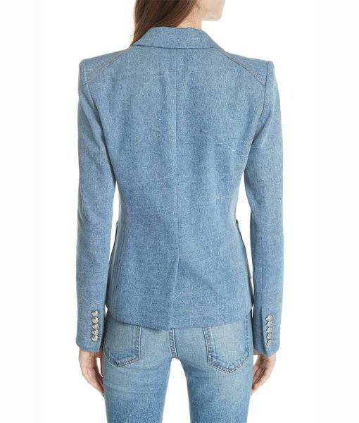 Caitlin lewis Blue Double Breasted Blazer