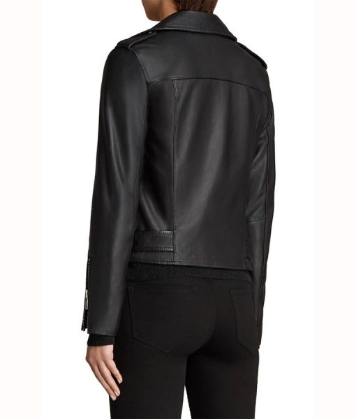 Caitlin Lewis Black Leather Jacket