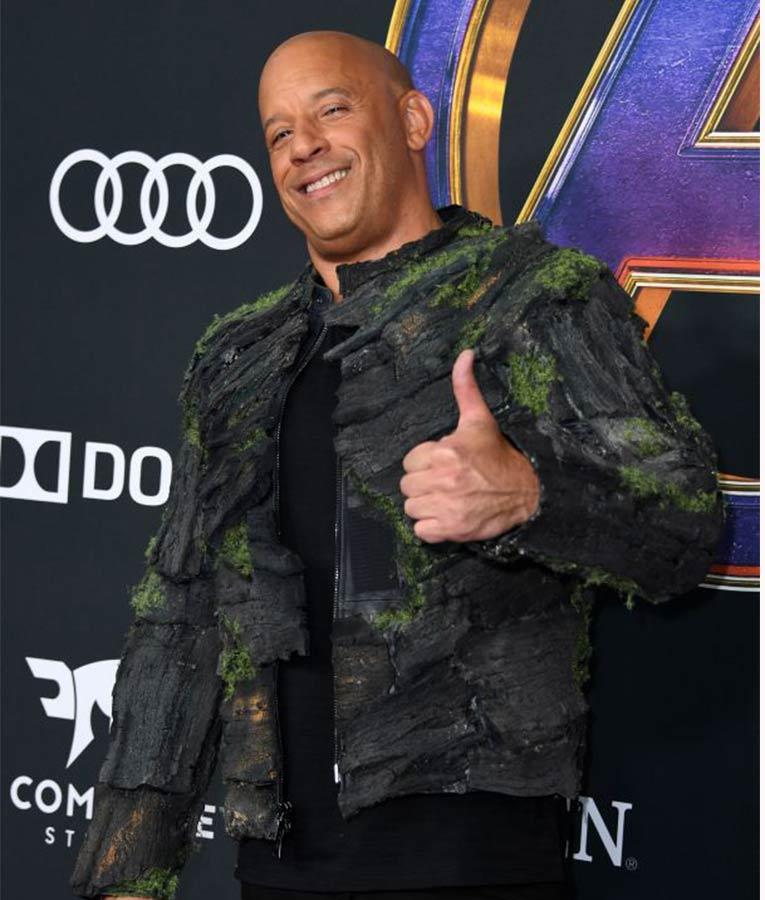 Avengers Endgame Premiere Vin Diesel Groot Jacket