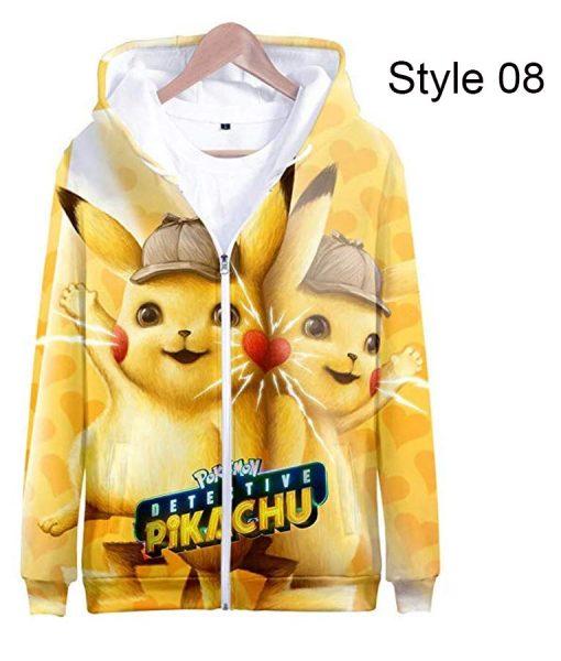3D Print Zipper Pikachu Hoodie