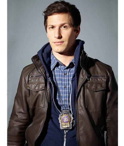 Andy Samberg Brooklyn Nine Nine Jake Peralta Leather Jacket