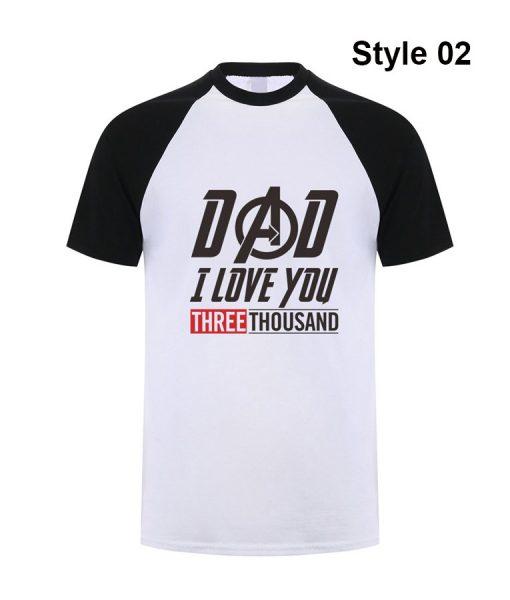 Tony Stark Dad I love you 3000-Time T-shirt