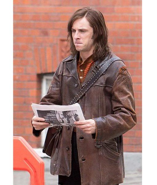 Jamie Bell RocketmanBrown Leather Jacket