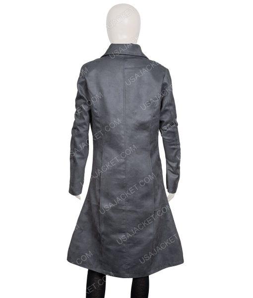Dark Phoenix Sophie Turner Grey Leather Coat