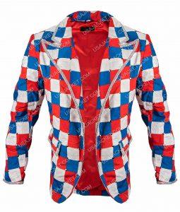 Taron Egerton Checked Colorful Blazer