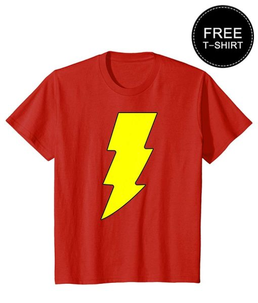Free T-shirt For Men in Red