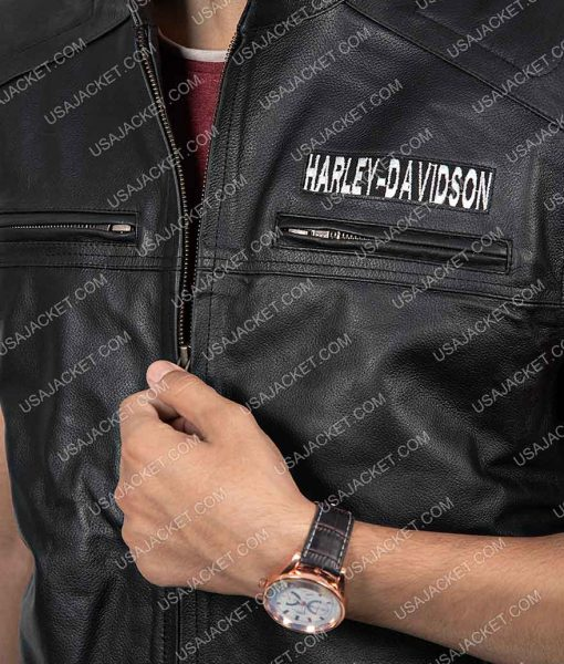 Motorcycle Harley Davidson Leather Vest