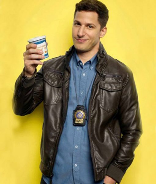 Jake Peralta Leather Jacket From TV Series Brooklyn Nine Nine