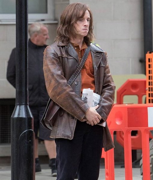 Rocketman Bernie Taupin Brown Leather Jacket