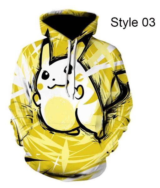 3d Print Pikachu Hoodie