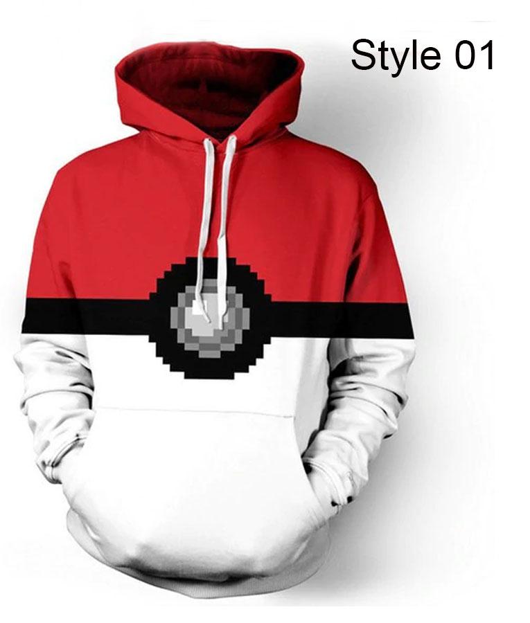 Pokemon Pokeball Boys Grey Zip Up Hoodie
