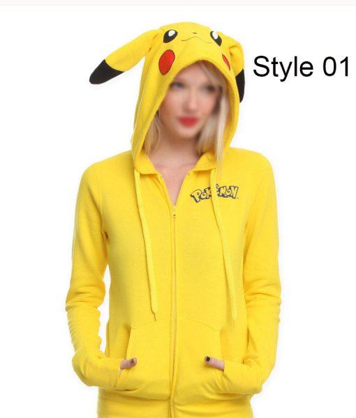 Pokemon Pikachu Yellow Hoodie