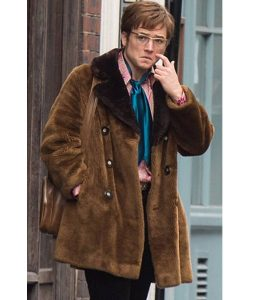 Taron Egerton Rocketman Shearling Jacket