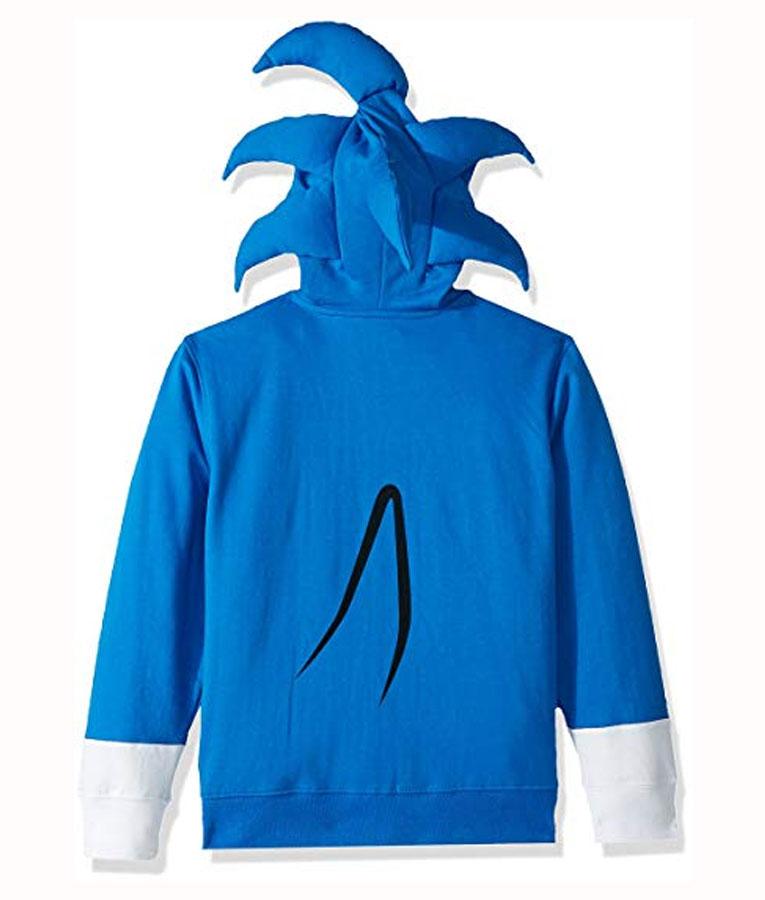 Sonic The Hedgehog Costume Blue Hoodie Newarrivals