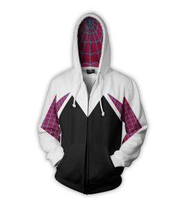 Spider Gwen Zip Up Hoodie