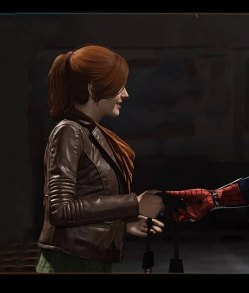 Mary Jane Watson Spiderman PS4 Leather Jacket
