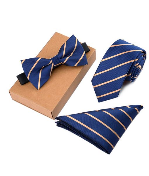 blue and Golden Line tie