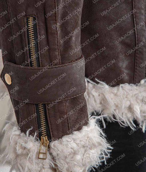 Brown Womens Shearling Jacket