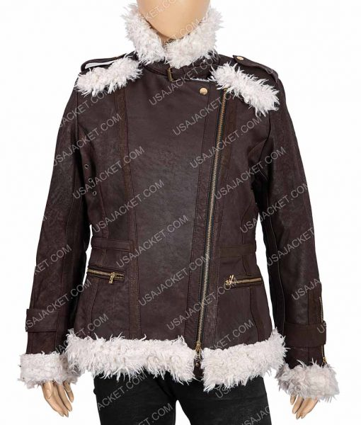 Womens Brown Shearling Jacket