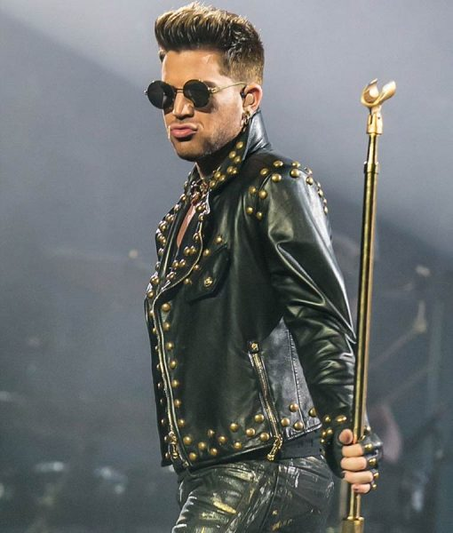 Adam Lambert Golden Studded Jacket