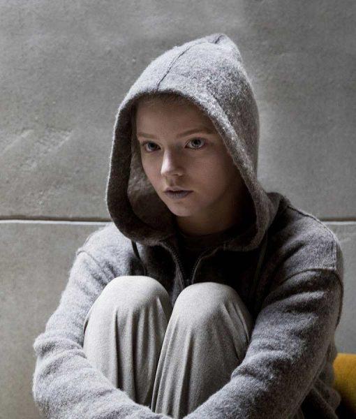 Anya Taylor-Joy Grey Morgan Hoodie