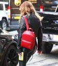 Bella Thorne Studded Cropped Jacket