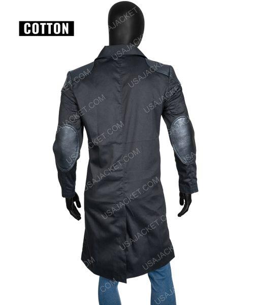Billy Butcher Black Cotton Coat