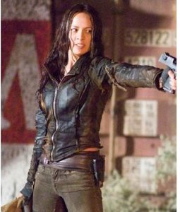Blair Williams terminator 4 leather jacket
