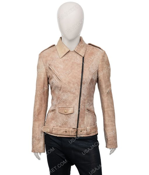 Fast And Furious 7 Letty Ortiz Moto Leather Jacket