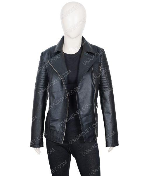 Fast and Furious 6 Gisele Yashar Black Moto Jacket