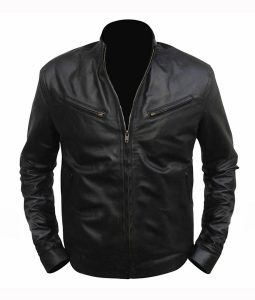 Dominic Toretto Fast and Furious 6 Black Leather Jacket