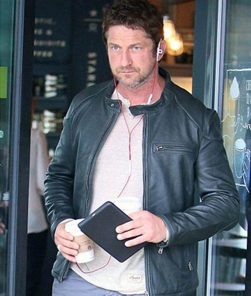 Gerard Butler Motorcycle Leather Jacket