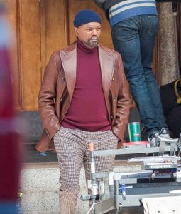 Shaft 2019 Samuel L. Jackson Leather Blazer