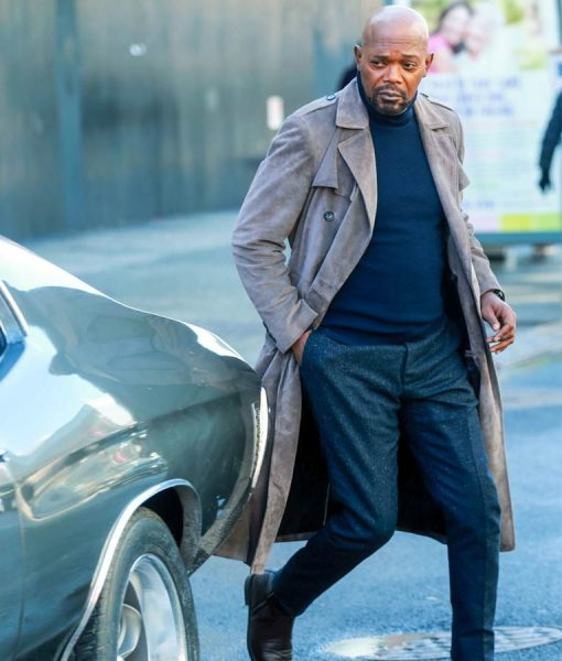 John Shaft Grey Duster Coat