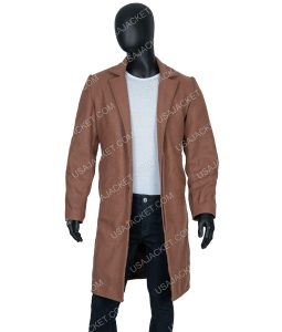 Knives Out Ransom Robinson Brown Long Coat