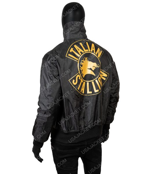 Rocky 3 Italian Stallion Black Jacket