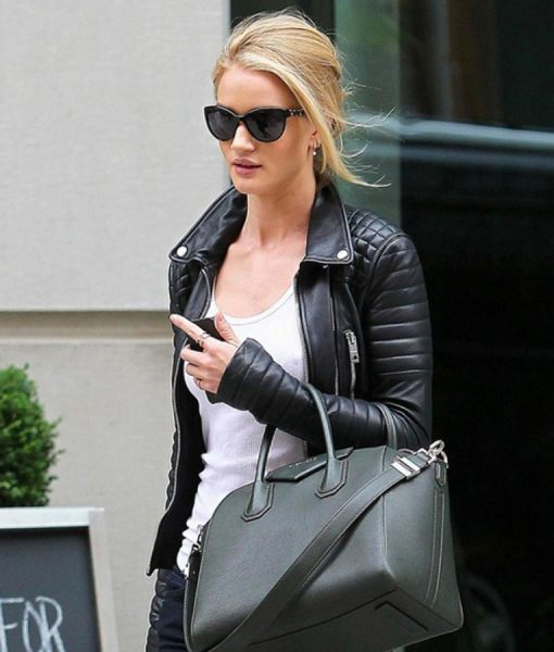 Rosie Huntington Whiteley Leather Jakcet