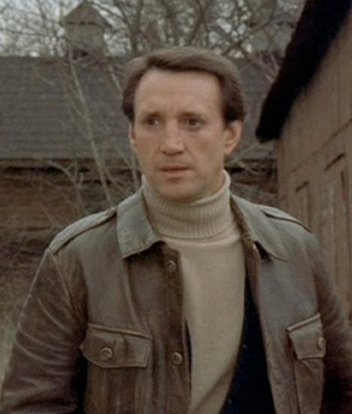 The Seven-Ups Roy Scheider Distressed Brown Leather Jacket