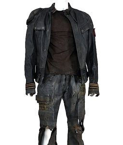 Marcus Wright Black Leather Jacket