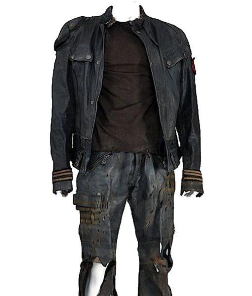 Sam Worthington Terminator Salvation Leather Jacket
