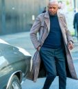 Samuel L. Jackson Shaft Grey Trench Coat