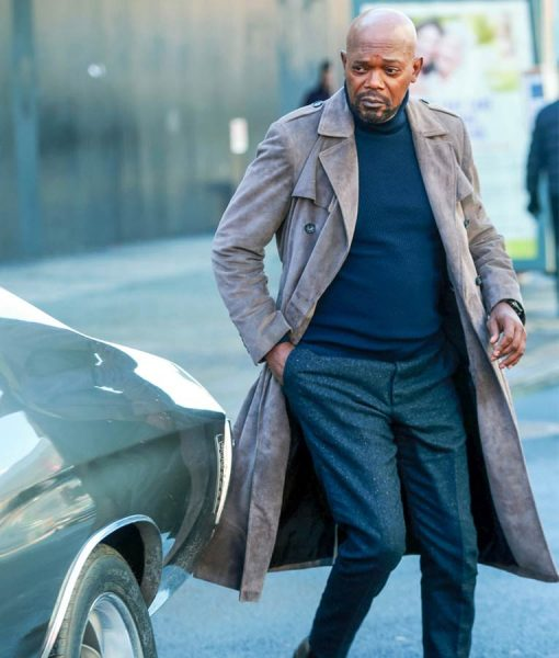 Samuel L. Jackson Shaft 2109 Grey Duster Coat